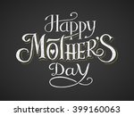 happy mothers day. chalk... | Shutterstock .eps vector #399160063