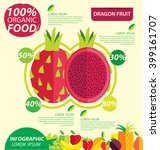 dragon fruit. infographic... | Shutterstock .eps vector #399161707