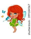 fairy girl in elegant  dress  ... | Shutterstock . vector #399184567