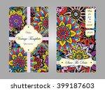 vintage card. wedding... | Shutterstock .eps vector #399187603