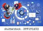 business team discussion... | Shutterstock . vector #399191653