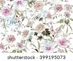 floral hand made design | Shutterstock . vector #399195073
