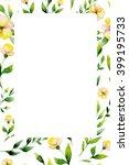 watercolor invitation floral... | Shutterstock . vector #399195733