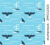 vector seamless pattern with... | Shutterstock .eps vector #399212323