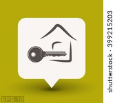 pictograph of key. vector... | Shutterstock .eps vector #399215203