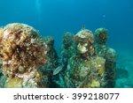 statues underwater | Shutterstock . vector #399218077