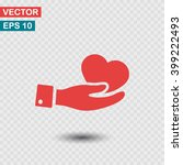 heart in hand icon. one of set...