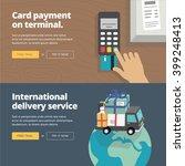 online   mobile payment website ... | Shutterstock .eps vector #399248413
