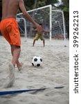 Children Playing Beach Soccer