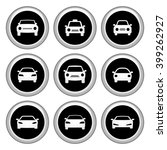 car icons silver icon set.... | Shutterstock . vector #399262927