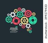 abstract brain gear | Shutterstock .eps vector #399279433