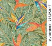 watercolor seamless pattern... | Shutterstock . vector #399293647