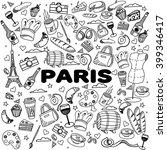 paris coloring book line art... | Shutterstock .eps vector #399346417