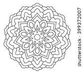 symmetrical circular pattern...   Shutterstock .eps vector #399372007