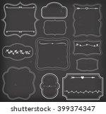 retro vintage frames set vector  | Shutterstock .eps vector #399374347