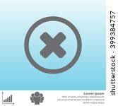 delete sign  icon. remove... | Shutterstock .eps vector #399384757