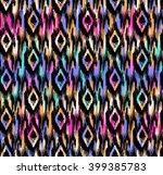 colorful boho ikat print  ...   Shutterstock .eps vector #399385783
