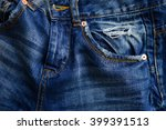 blue jeans with pocket.... | Shutterstock . vector #399391513
