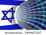 national flag of israel with a... | Shutterstock . vector #399407107