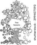 tree seasons. vector elements.... | Shutterstock .eps vector #399407593
