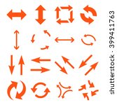 exchange arrows vector icon set.... | Shutterstock .eps vector #399411763