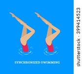 synchronized swimming.paired... | Shutterstock .eps vector #399414523
