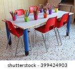 classroom of a kindergarten... | Shutterstock . vector #399424903