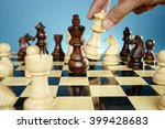 chess king is checkmated | Shutterstock . vector #399428683