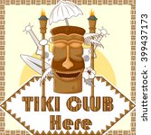vector design of tiki club... | Shutterstock .eps vector #399437173