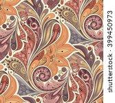 vector seamless floral pattern. ... | Shutterstock .eps vector #399450973