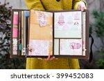 scrapbook that was handmade ... | Shutterstock . vector #399452083