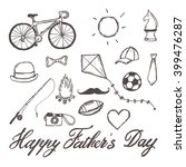 happy father's day hand drawn... | Shutterstock .eps vector #399476287