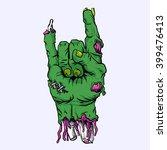 zombie hand | Shutterstock .eps vector #399476413