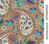 paisley vintage floral motif... | Shutterstock .eps vector #399484963