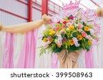 background of beautiful flower... | Shutterstock . vector #399508963
