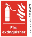 fire extinguisher sign | Shutterstock .eps vector #399516277