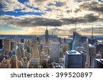 colorful image of the skyline... | Shutterstock . vector #399520897