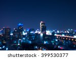 abstract urban night light... | Shutterstock . vector #399530377