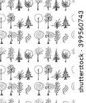 set of tree doodles seamless | Shutterstock .eps vector #399560743