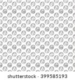 seamless pattern with doodled... | Shutterstock .eps vector #399585193