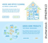 eco cleaning vector page... | Shutterstock .eps vector #399609613