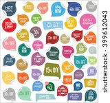 sale stickers and tags... | Shutterstock .eps vector #399612043