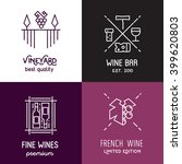 vector wine line icons and... | Shutterstock .eps vector #399620803
