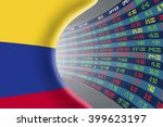 national flag of colombia with... | Shutterstock . vector #399623197