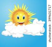 vector sun character in clouds | Shutterstock .eps vector #399631717