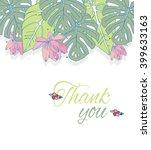 tropical plants leaves of... | Shutterstock .eps vector #399633163