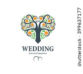 vector logo wedding | Shutterstock .eps vector #399637177