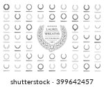 wreath vector icon set .laurel...