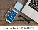 delivery order message in a... | Shutterstock . vector #399648277