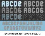 geometric round lines typeface | Shutterstock .eps vector #399654373